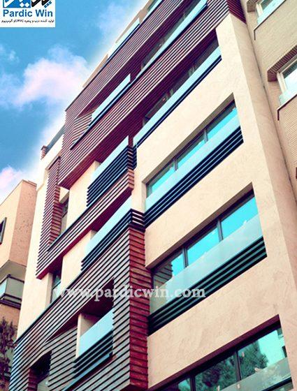 Pardicwin-wintech laminated upvc windows-esf-tilt and turn-esfahan