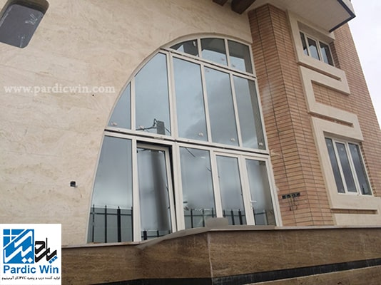 esfahan-rehau germany-upvc angled and arched windos