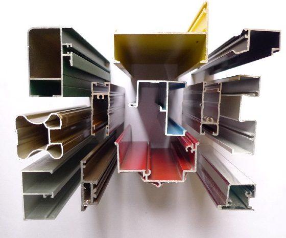 انواع پروفیل های درب و پنجره آلومینیومی-alluminium windows and doors profile- پاردیک وین تولید کننده درب و پنجره های آلومینیومی و UPVC