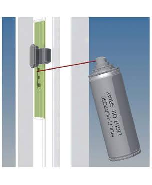 oiling windows and doors- روغن کاری یراق آلات درب و پنجره- کاهش استهلاک درب و پنجره