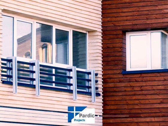 پروژه درب و پنجره دوجداره upvcرها آلمان پاردیک-کارفرما شرکت توسعه مسکن اصفهان-