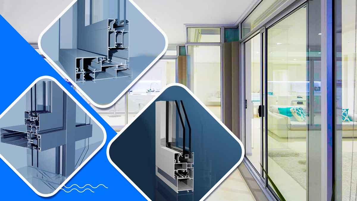 انواع بازشو درب و پنجره های دوجداره-انواع مدل بازشو درب و پنجره آلومینیوم و upvc