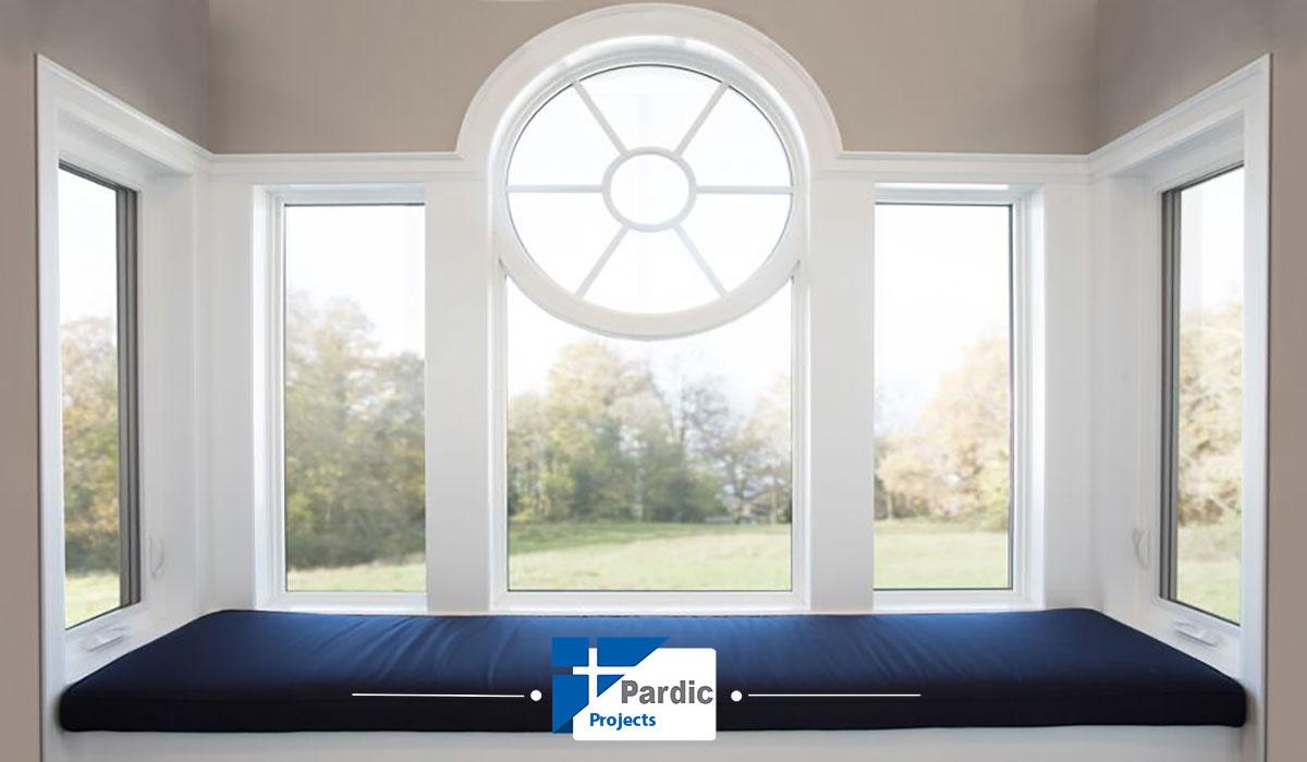 درو پنجره آلومینیوم گلوب الوم شیشه ثابت -در و پنجره فیکس وینتک-ویستابست