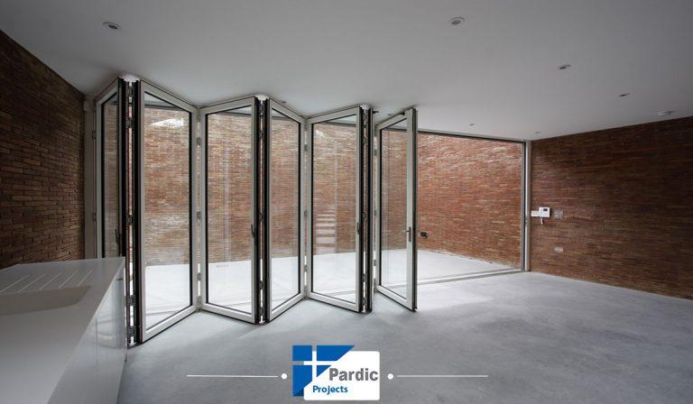 در و پنجره های الومینوم آکاردئونی گلوب آلوم-در و پنجره های ویپی وی سی اکاردئونی وینتک-ویستابست-رها